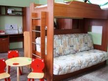 Мебель для детской диван и кровать на 2м ярусе Боровичи-мебель