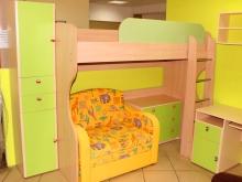 детская мебель: кровать на 2ом ярусе, лестница, диван