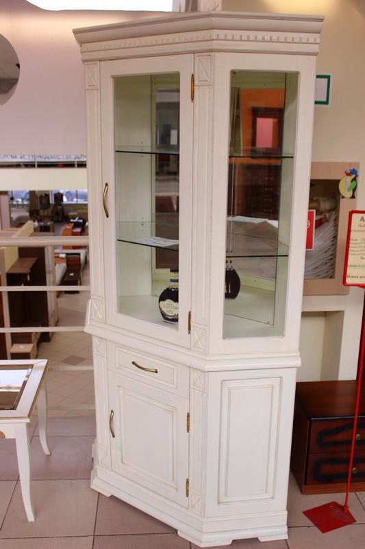 шкаф комбинированный из массива дуба слоновая кость
