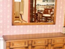"""мебель для гостиной: тумба и зеркало из массива дуба в МЦ \""""Аннушка\"""""""