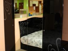 шкаф для одежды 4х-дверный с зеркалом вместительный