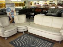 Модульный кожаный диван