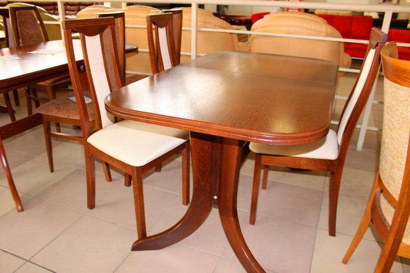 прямоугольный стол из массива дерева