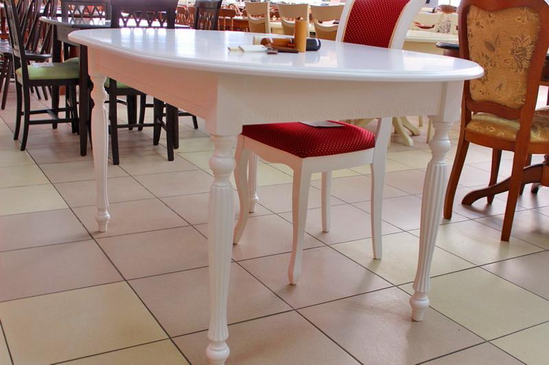 обеденный стол слоновая кость белый