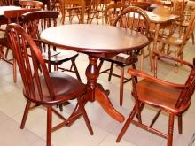 стол и стулья из массива дерева