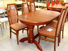 большие обеденные столы из массива
