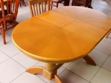 раздвижной стол удобный овальный