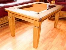 """деревянный журнальный стол со стеклом \""""Пинскдрев\"""""""